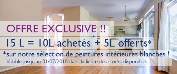 Offre Exclusive : 15l = 10L achetés + 5L offerts (dans la limite des stocks et jusqu'au 31/07/18)