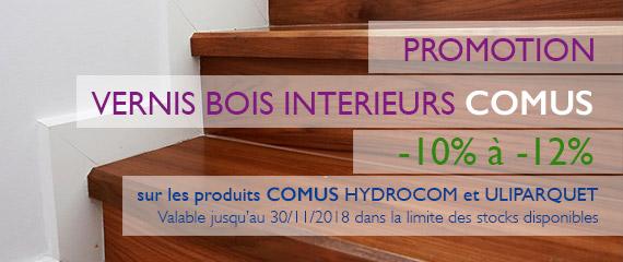 Promo -12% sur vernis bois intérieurs
