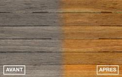 Avant et après bois encrassés et bois grisés
