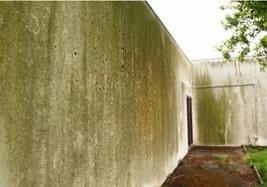 Exemple de mur de façade à nettoyer