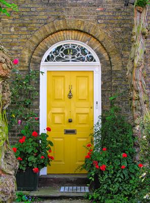 Protection pour une porte en bois avec une essence de bois non exotique