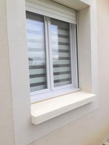Traitement peinture d'un appui de fenêtre