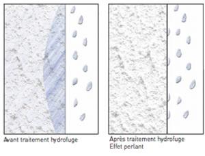 Traitement hydrofuge d'un mur en brique ou en pierre