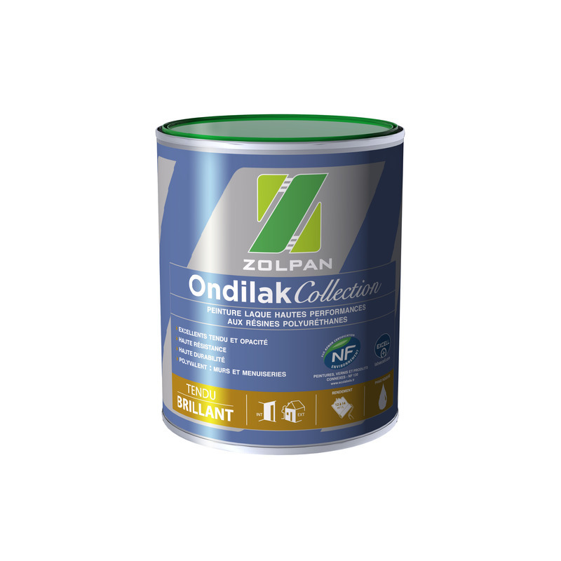 Peinture laque brillante haute performance : ondilak collection brillant - zolpan