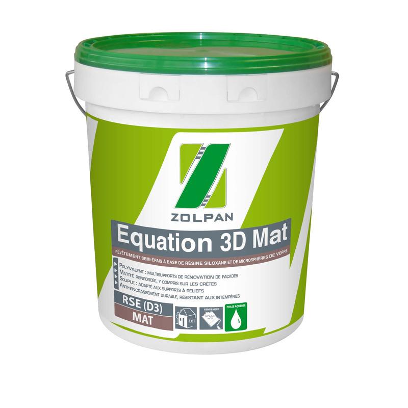 Revêtement semi-épais siloxané de classe d3 : equation 3d plat - zolpan