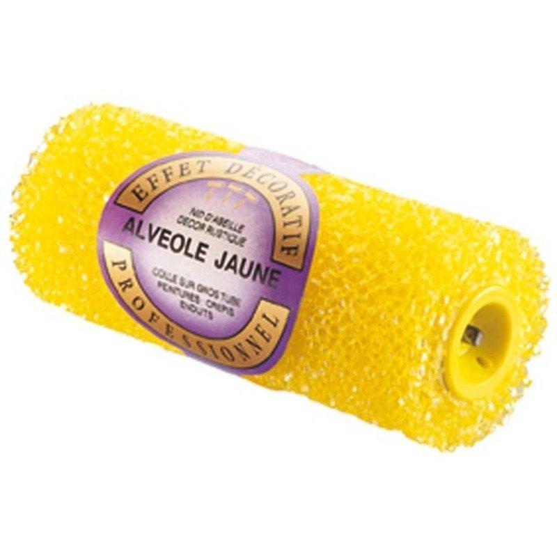 Manchon alvéolé jaune 205518