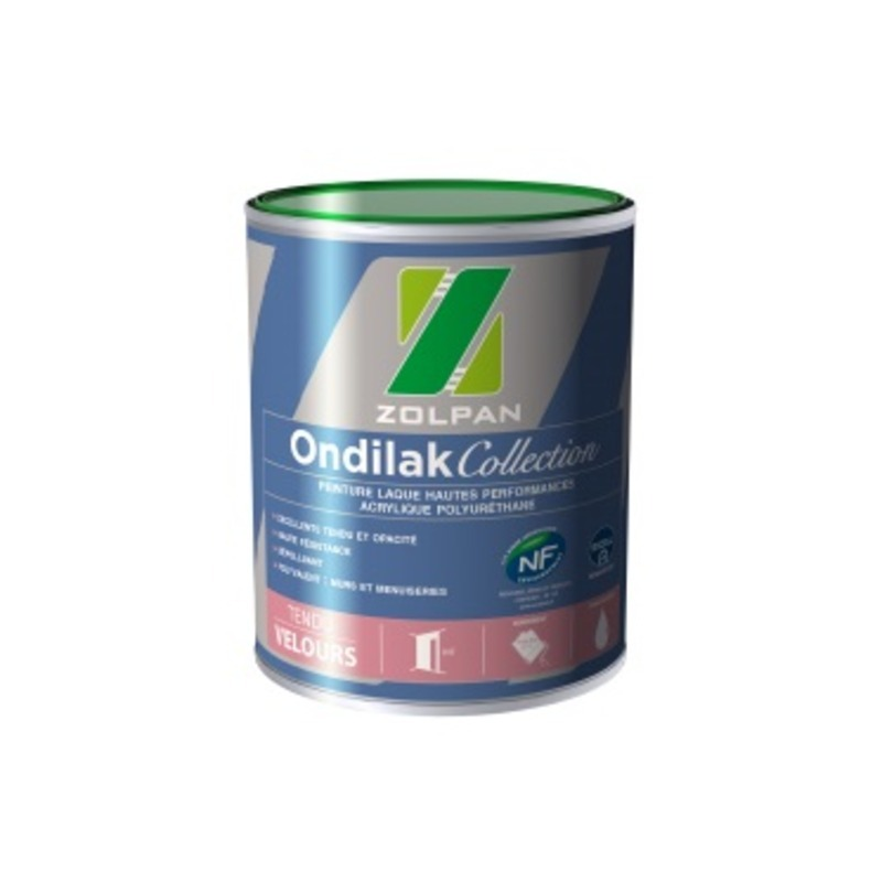 Peinture laque velours hautes performances ondilak collection velours - zolpan