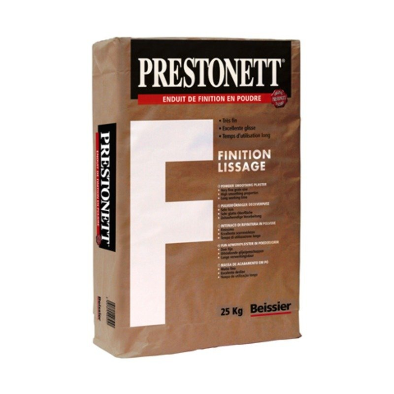 Prestonett f : finition lissage