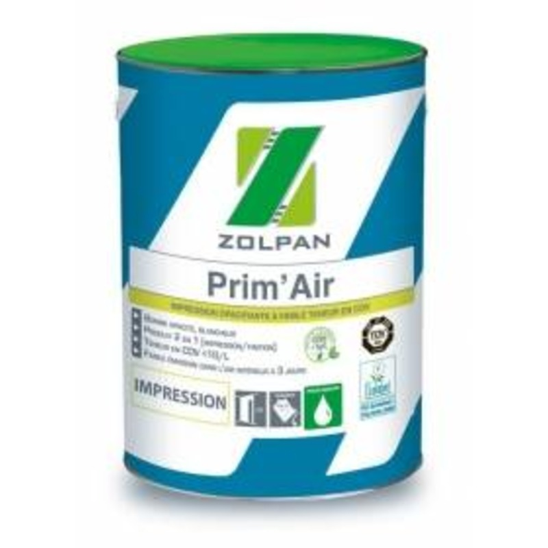 Impression opacifiante à faible teneur en cov: prim'air - zolpan