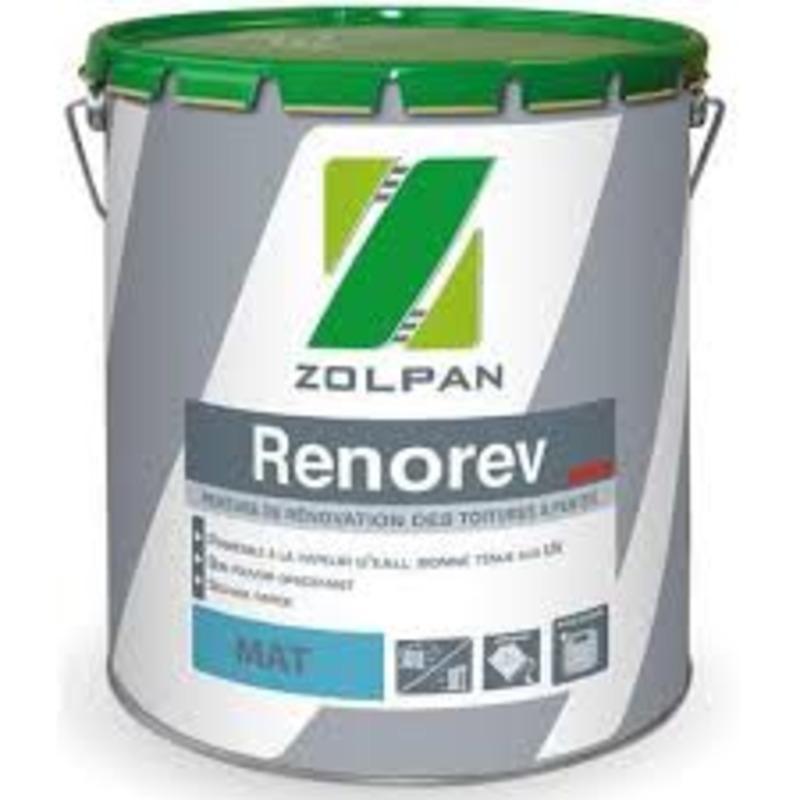 Peinture de rénovation des toitures tuiles: renorev - zolpan