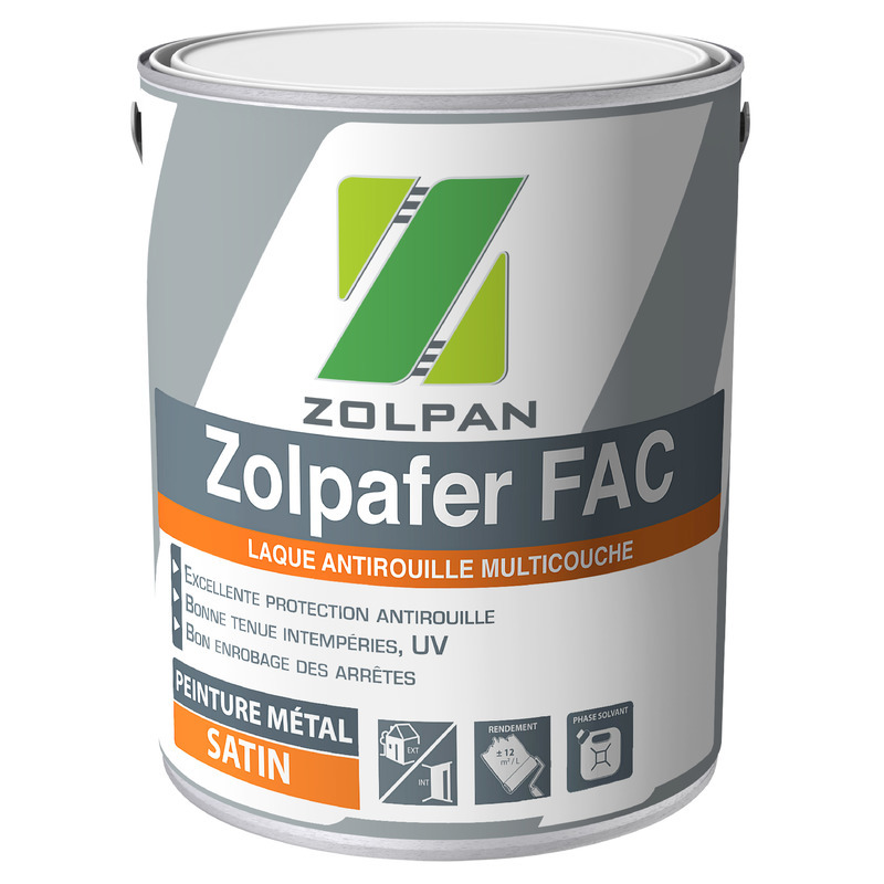 Laque antirouille multicouche : zolpafer fac satin - zolpan