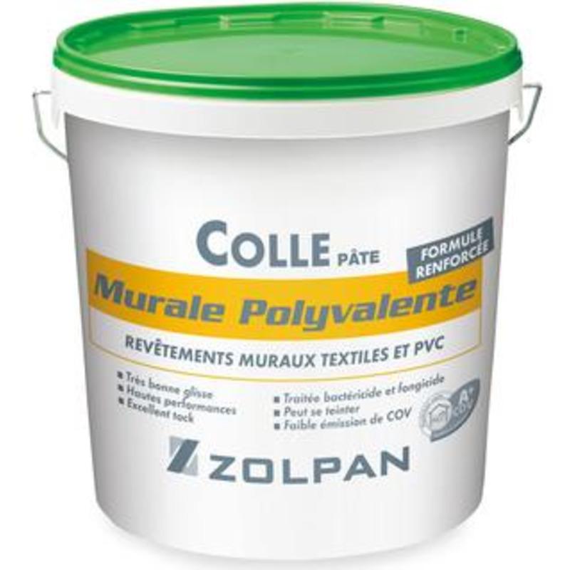 Colle polyvalente pour revêtements muraux: colle pâte murale polyvalente - zolpan