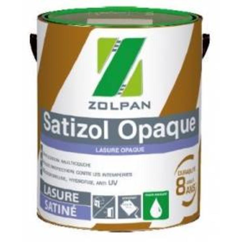 Lasure acrylique opaque satinée: satizol opaque - zolpan