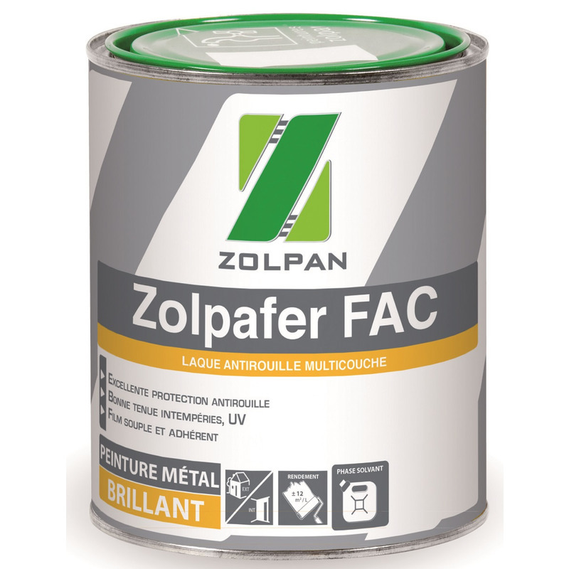 Laque antirouille multicouche: zolpafer fac - zolpan